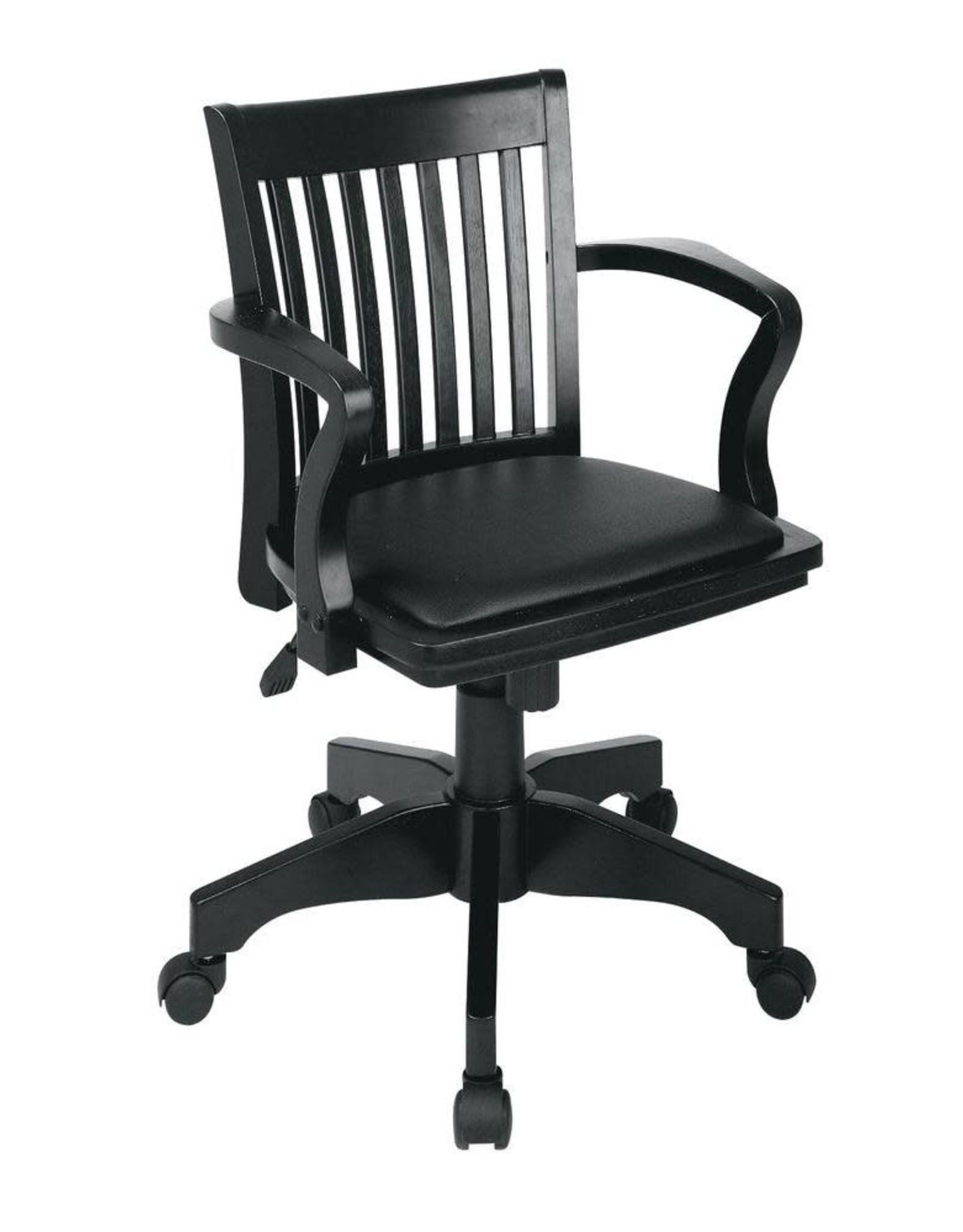 OSP Home Furnishings Black Bankers Chair