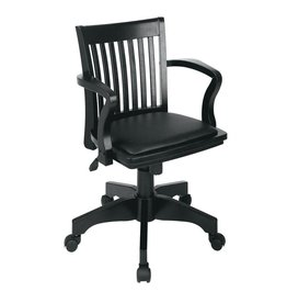 OSP Home Furnishings Black Bankers Chair