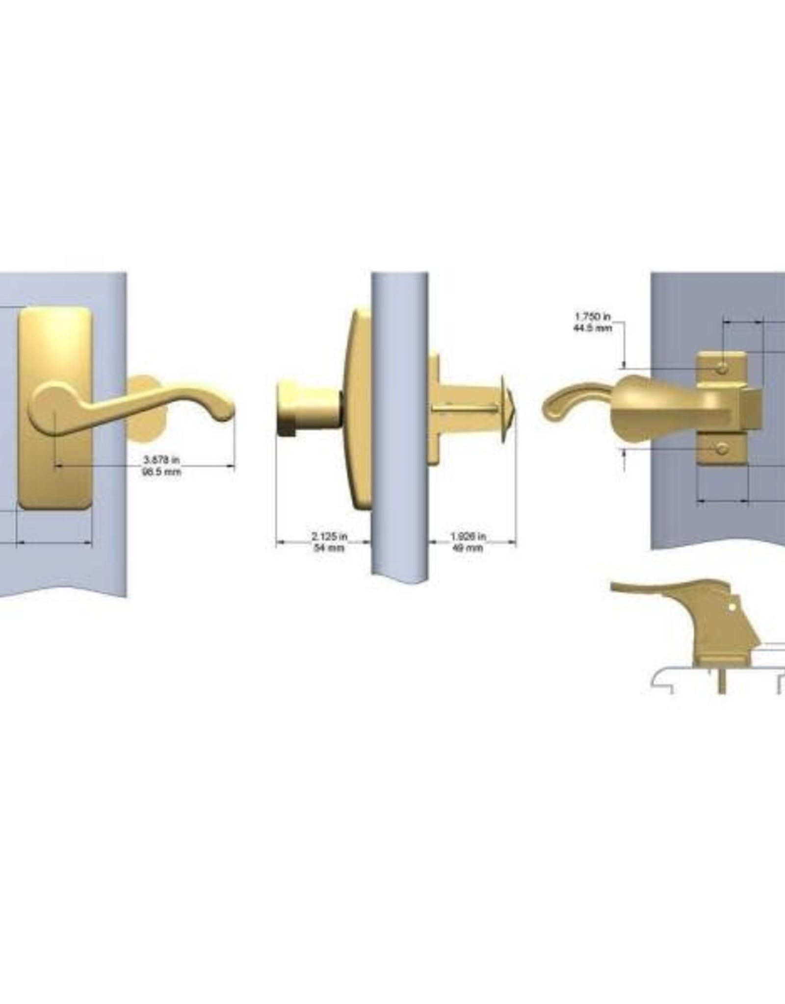IDEAL Security E-Coat Brass Storm Door Lever Handle Set