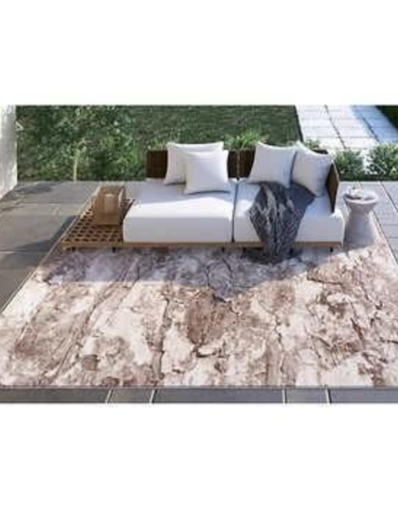 ART CARPET LLC 8X10 Carmel Indoor/Outdoor Area Rug, Beige