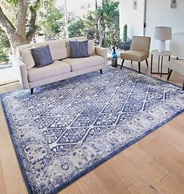 GA GERTMENIAN AND SONS Tempo Area Rug, Lytton Blue 5X7