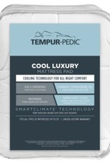 AMERICAN TEXTILE Tempur-Pedic Performance Luxury Fitted Mattress Pad - Cool, Comfortable and Hypoallergenic
