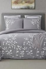 CATHAY HOME INC Autumn Vine 3-Piece Queen Comforter Set in Grey
