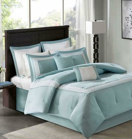 JLA HOME/E & E CO LTD Madison Park Stratford 8 Piece Comforter Set King Size AQ