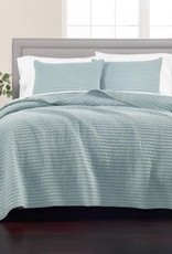 MARTHA STEWART-MMG/COLLECTION 43417 Cotton Quilt Solid - Washed Rice Stitch - Size King