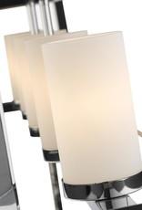Golden Lighting Smyth CH 5-Light Chrome Pendant with Opal Glass