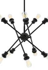 Golden Lighting Axel 10-Light Matte Black Sputnik Chandelier