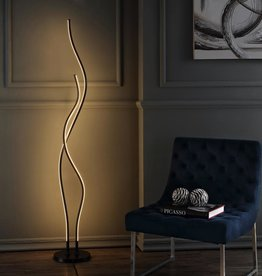 JONATHAN Y Cairo 63.75 in. Black LED Integrated Floor Lamp