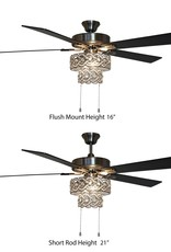 River of Goods Demi Braid 52 in. LED Silver Ceiling Fan With Light