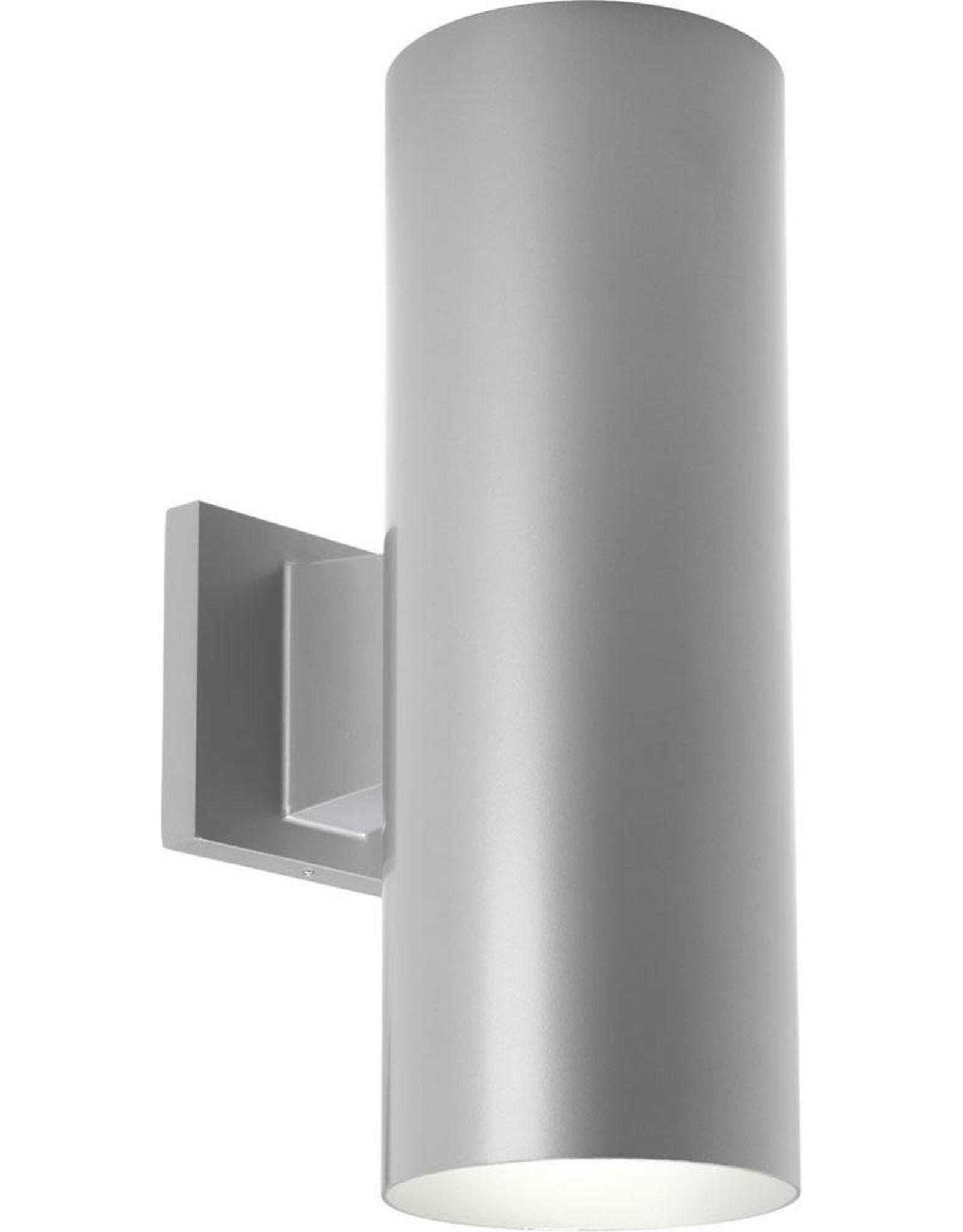 Progress Lighting 2-Light Metallic Gray 14 in. Outdoor Wall Lantern