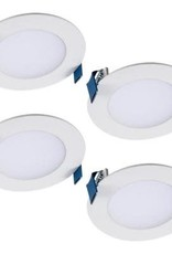 Halo HLB 4 in. Color Selectable New Construction or Remodel Canless Recessed Integrated LED Kit (4-Pack)
