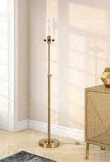 Meyer&Cross Frieda 66 in. Brass Floor Lamp Clear Glass