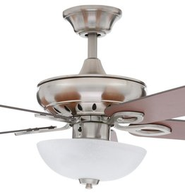 Hampton Bay Asbury 60 in. LED Indoor Brushed Nickel Ceiling Fan with Light Kit and Remote Control
