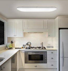 Hampton Bay 49 in. x 18 in. Traditional Rectangle Smooth Lens LED Flush Mount Ceiling Light Dimmable High Output 5500 Lumens 4000K