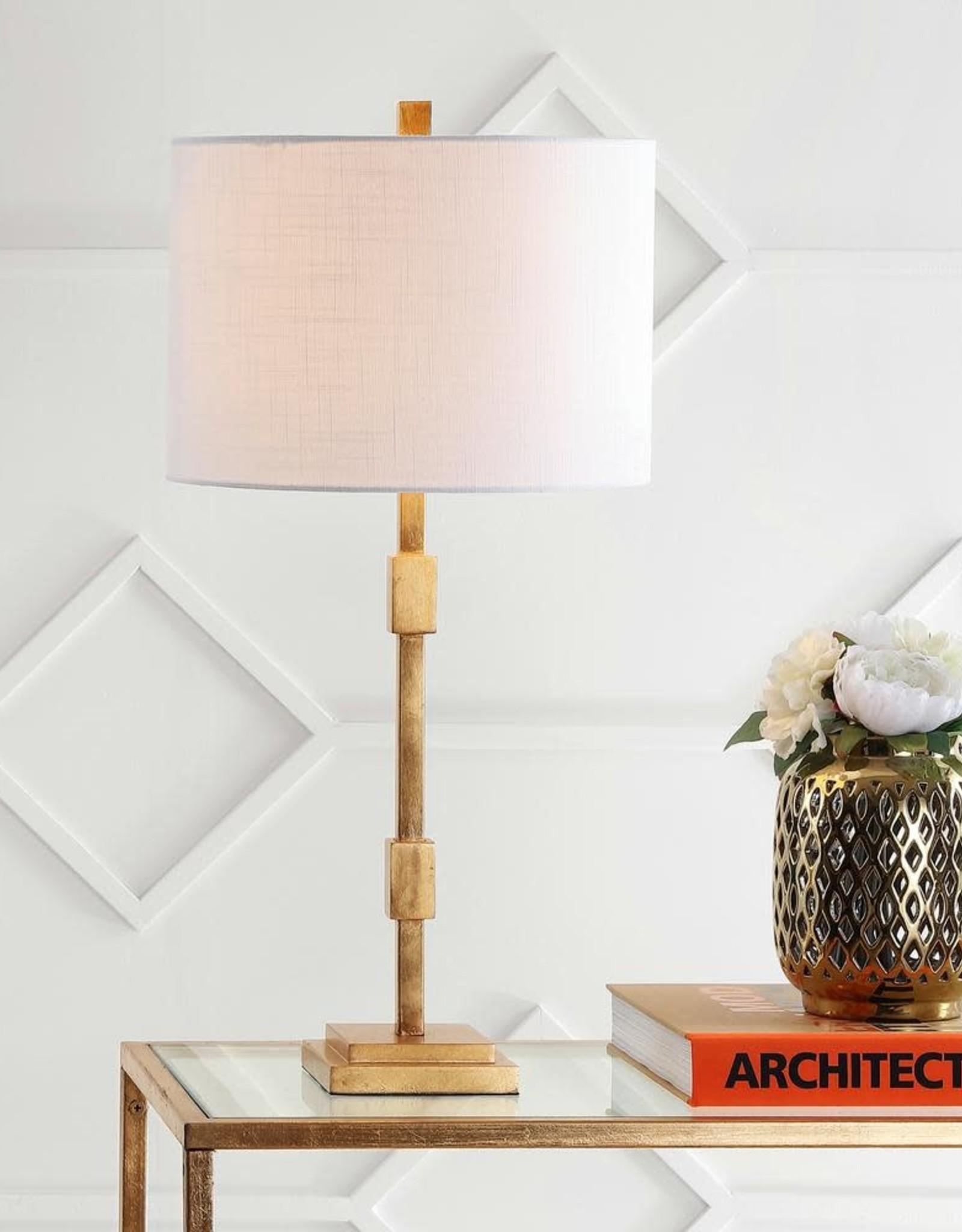 JONATHAN Y Windsor 29 in. Metal LED Table Lamp, Gold Leaf