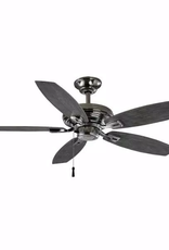 Hampton Bay North Pond 52 in. Outdoor Polished Nickel Ceiling Fan
