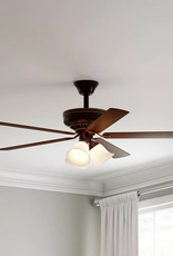 Hampton Bay Campbell 52 in. LED Indoor Mediterranean Bronze Ceiling Fan with Light Kit and Remote Control