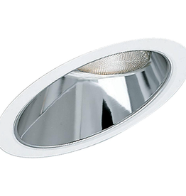 Progress Lighting 8 in. Clear Alzak Recessed Reflector Trim for Sloped Ceilings