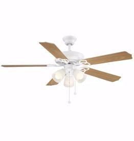 Brookhurst Brookhurst 52 in. LED Indoor White Ceiling Fan with Light Kit