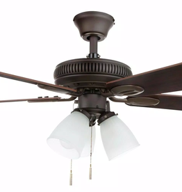 Hampton Bay Glendale 42 in. LED Indoor Oil-Rubbed Bronze Ceiling Fan with Light Kit
