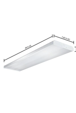 Metalux 32-Watt 2-Light White Fluorescent Wraparound Flushmount Ceiling Light Fixture