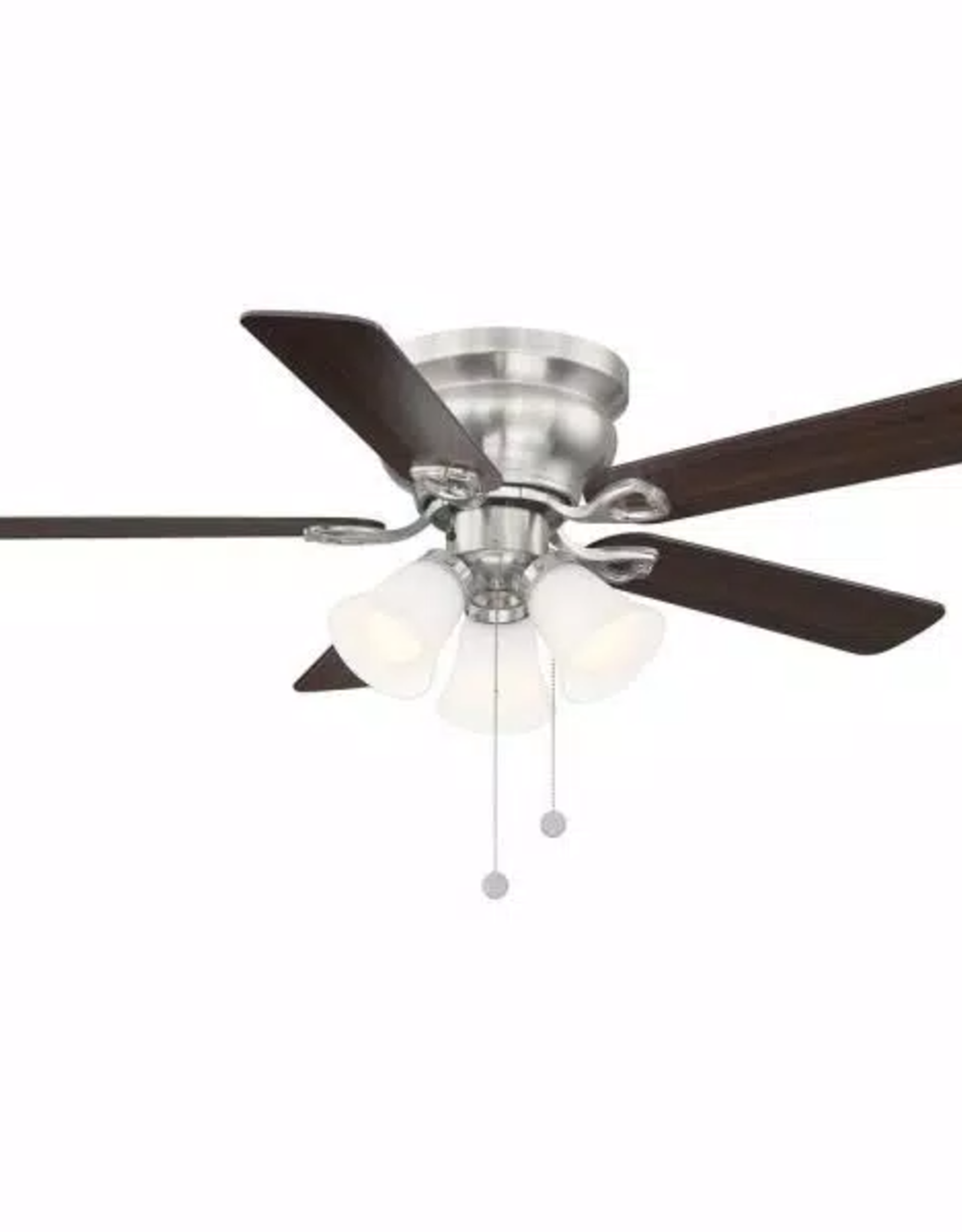 Clarkston Clarkston II 44 in. LED Indoor Brushed Nickel Ceiling Fan with Light Kit