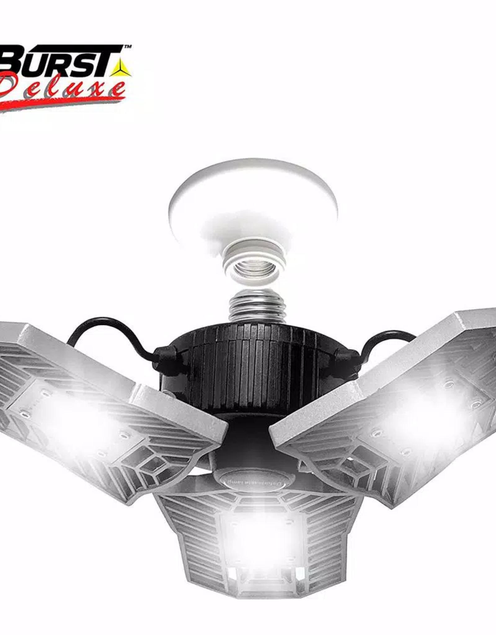 Bell + Howell TriBurst Deluxe 10.5 in. 144 High Intensity LED 5500 Lumens Flush Mount Ceiling Light