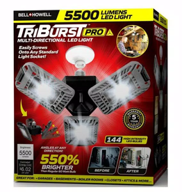 Bell + Howell TriBurst 10.5 in. 144 High Intensity LED 4000 Lumens Flush Mount Ceiling Light with 3 Adjustable Heads