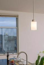 Design House Olso 1-Light Mini Satin Nickel Pendant