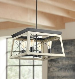 Hampton Bay Briarwood Collection Four-Light Chandelier