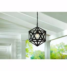 Hampton Bay 1-Light Bronze Outdoor Pendant Light (Bulb Included)