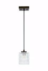 Home Decorators Collection 40-Watt Metallic Bronze Integrated LED Mini-Pendant