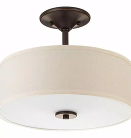 Progress Lighting Inspire 2-Light Antique Bronze Semi-Flush Mount