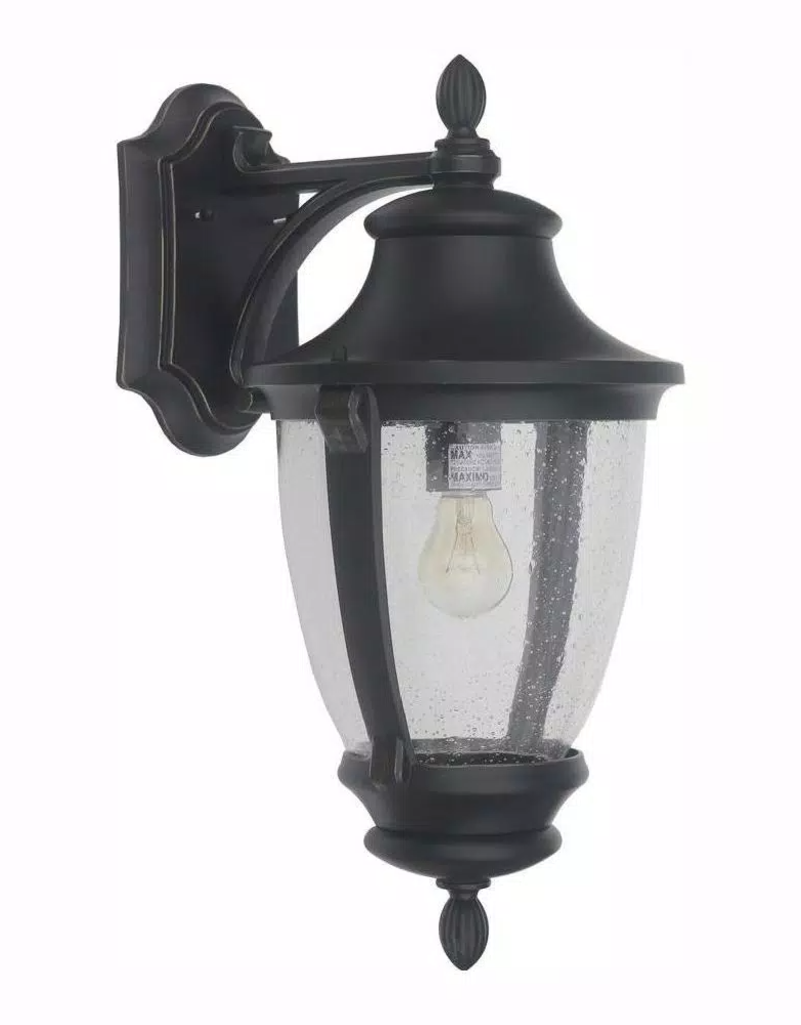 Home Decorators Collection Wilkerson 1-Light Black Outdoor Wall Lantern Sconce
