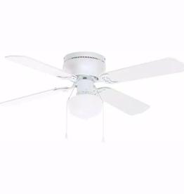 Littleton Littleton 42 in. LED Indoor White Ceiling Fan with Light Kit