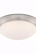 Hampton Bay 128-Watt Brushed Nickel Integrated LED Ceiling Flushmount