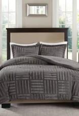 JLA HOME/E & E CO LTD Polar 3-Piece Grey Full/Queen Comforter Set
