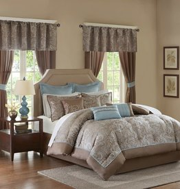 JLA HOME/E & E CO LTD Madison Park Essentials Queen Brystol 24 Piece Bedding Set