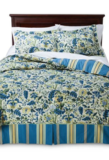 WAVERLY/KEECO LLC 4PC Waverly Pocelain Queen Comforter Set