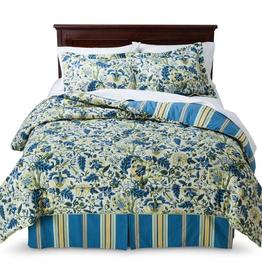 WAVERLY/KEECO LLC 4 Piece IMPERIAL DRESS ANTIQUE Queen Comforter Set Cotton Tan Floral