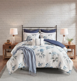 JLA HOME/E & E CO LTD Madison Park Zennia King/California King 7-Pc. Printed Seersucker Comforter Set