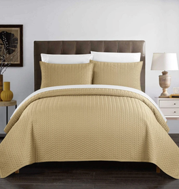 CHIC HOME DESIGN LLC Weaverland Queen 3 Piece Coverlet Set