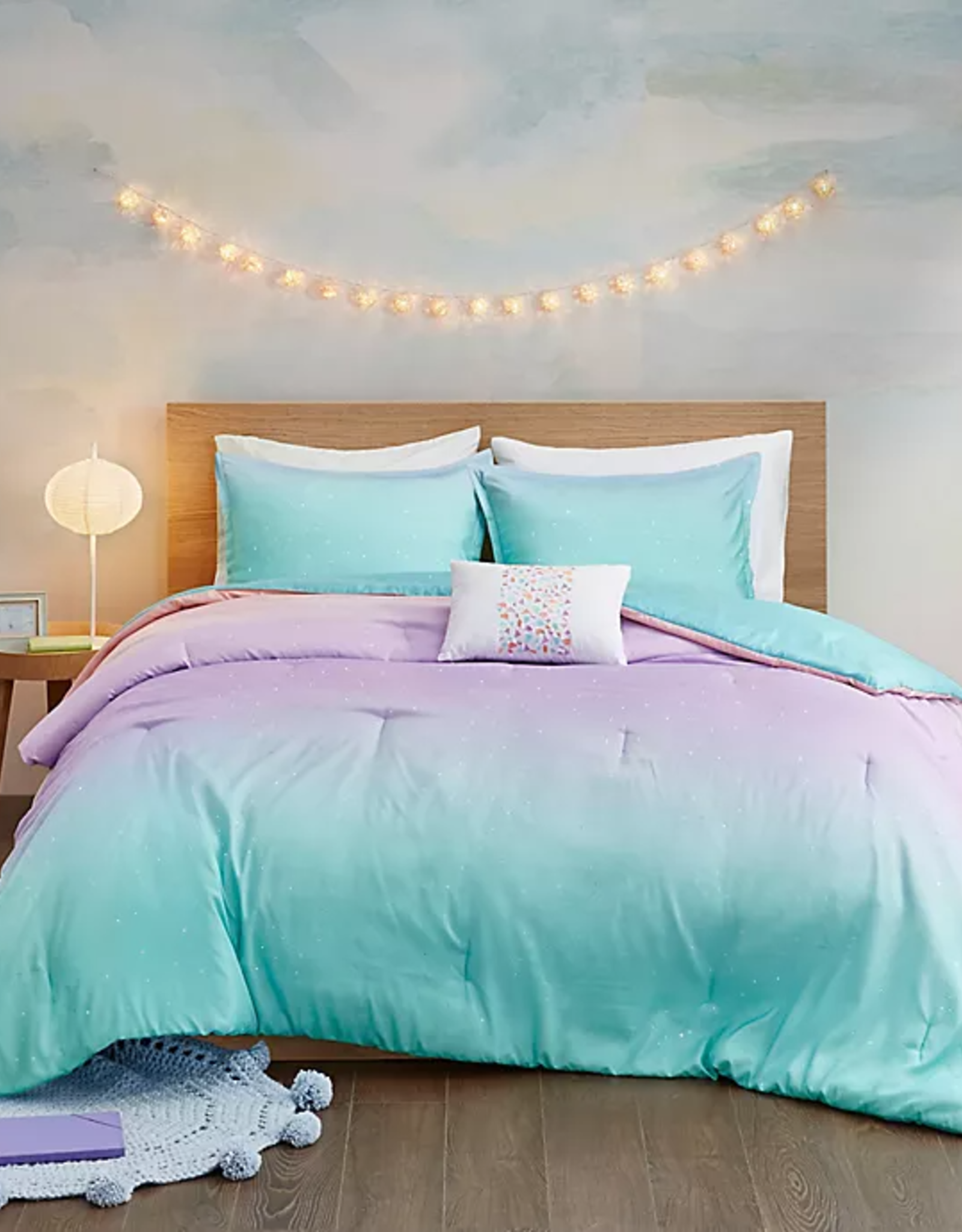 JLA HOME/E & E CO LTD Glimmer Full/Queen Bedding Set