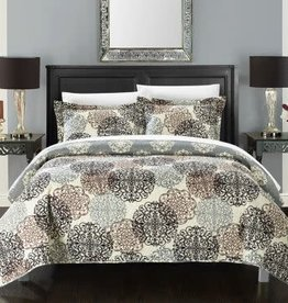 CHIC HOME DESIGN LLC Chic Home Queen 3 Piece Reversible Print Quilt Set