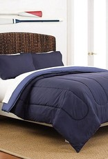 WESTPOINT HOME INC MARTEX Two-Tone 3-Piece Reversible Full/Queen Comforter Set in Navy/Blue