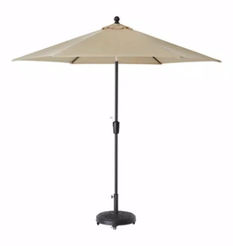 Home Decorators Collection 9 ft. Aluminum Market Auto Tilt Patio Umbrella in Sand