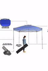 Everbilt 10 ft. x 10 ft. Blue Instant Canopy Pop Up Tent
