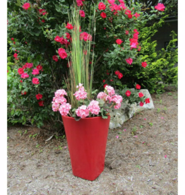 Grosfillex Stockholm 16 in. W x 21 in. H Carmine Resin Decorative Vase
