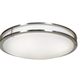Access Lighting Solero 35-Watt 24 in. Brushed Steel Integrated LED Flush Mount