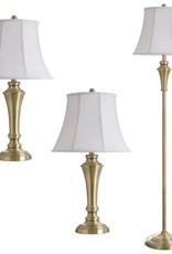 STYLECRAFT HOME CLLCTIONS 61 in. Brass Lamp Set (3-Piece)